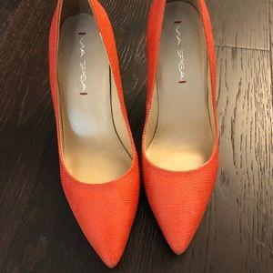 Via Spiga Red Coral Pumps Heels Size 7
